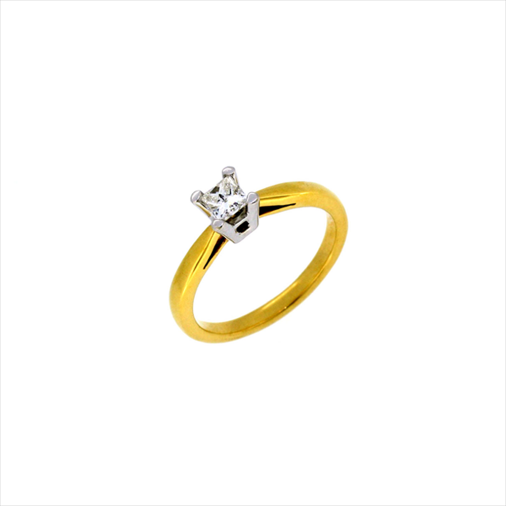 18ct Yellow Gold Princess Diamond Ring