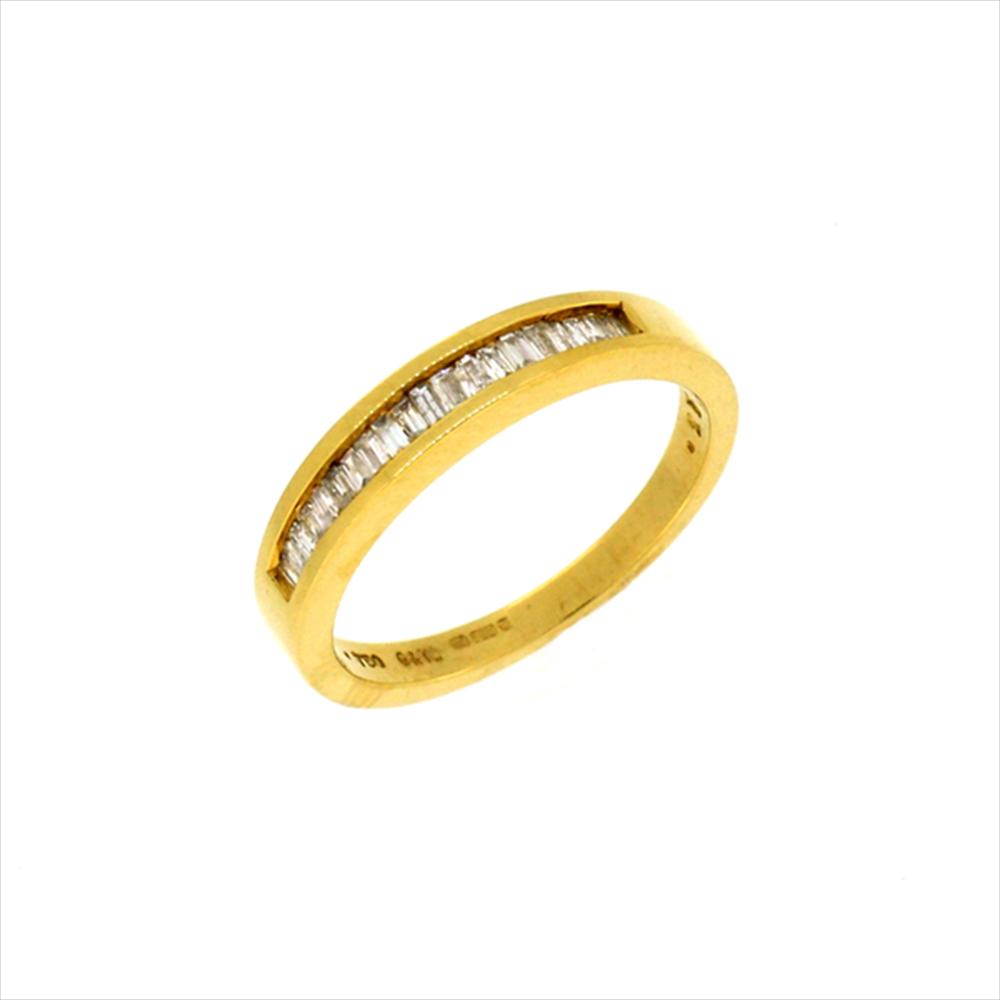 18ct yellow gold half eternity diamond ring. Black Bedroom Furniture Sets. Home Design Ideas