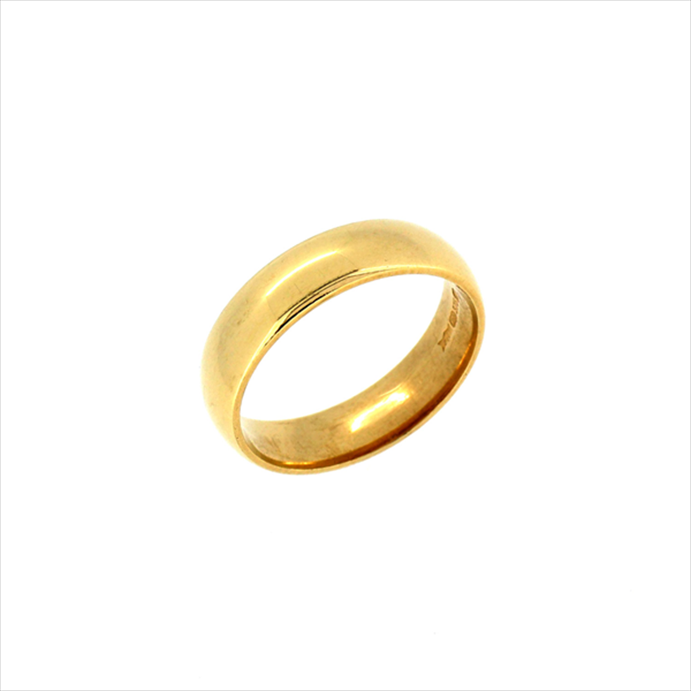 9ct Yellow Gold Size O Wedding Ring