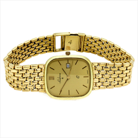 14ct Yellow Gold Second-hand Gents Lesfreres Wrist Watch