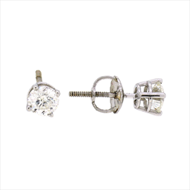 18ct White Gold Diamond Solitaire Studs