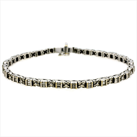 18ct White Gold Second-hand Diamond Bracelet. Weight 18.7g