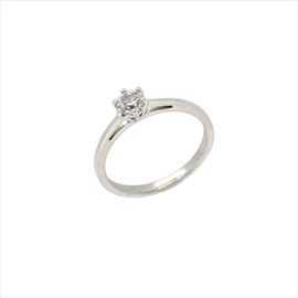 18ct White Gold Second-hand Diamond Ring. Weight 2.8g