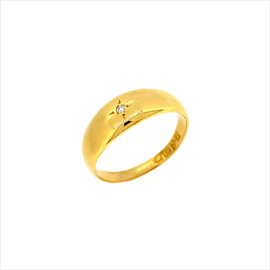18ct Yellow Gold Second-hand Diamond Set Ring. Weight 4.3g