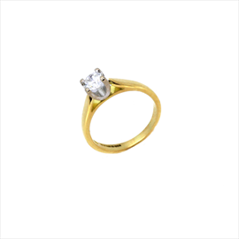 18ct Yellow Gold Second-hand Diamond Solitaire Ring