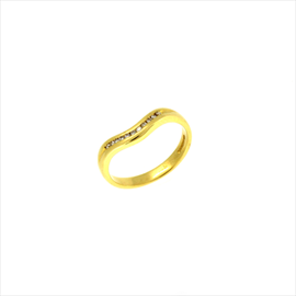 18ct Yellow Gold Second-hand Diamond Wishbone Ring. Weight 3.1g