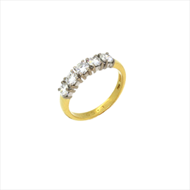 18ct Yellow Gold Second-hand Five Stone Diamond Ring