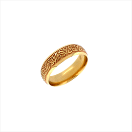 9ct Yellow Gold Celtic Court Wedding Ring