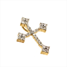 9ct Diamond Cross 1.7g