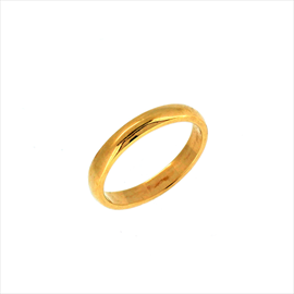 9ct Yellow Gold Wedding Ring. Weight 2.4g