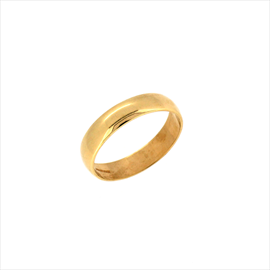 9ct Yellow Gold D Shaped 4mm Wedding Ring