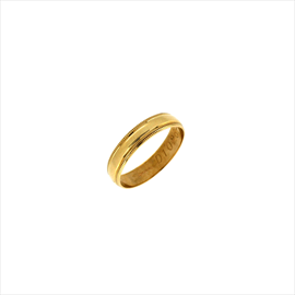 9ct Yellow Gold D-Shaped Ladies Ring