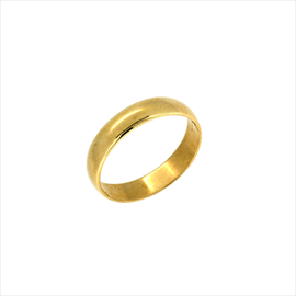 9ct Yellow Gold D Shaped Wedding Ring