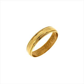 9ct Yellow Gold D Shaped Ladies Wedding Ring