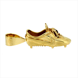 9ct Yellow Gold Football Boot Pendant. Weight 5.5g