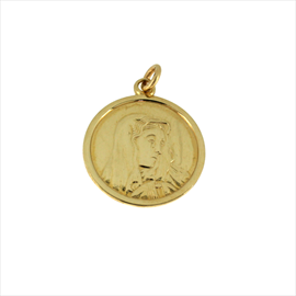 9ct Yellow Gold Madonna Medal