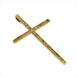 9ct Yellow Gold Second-hand Diamond Cross. Weight 3.2g