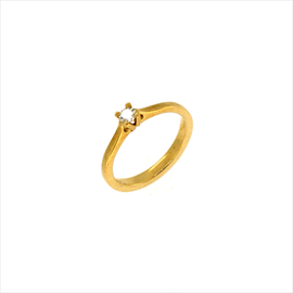 9ct Yellow Gold Second-hand Diamond Ring. Weight 2.6g