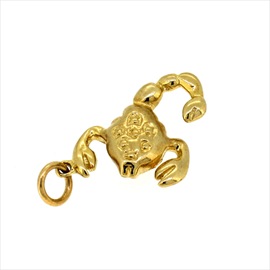 9ct Yellow Gold Second-hand Lobster Charm. Weight 2.1g
