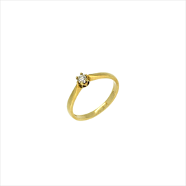 9ct Yellow Gold Second-hand Single Stone Diamond Ring