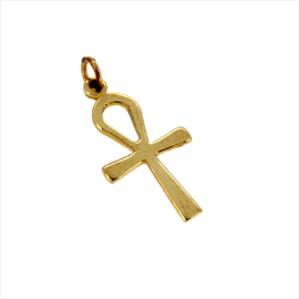 9ct Yellow Gold Small Plain Ankh Cross