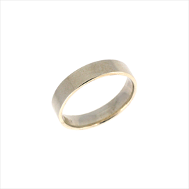Silver 4mm Easy Fit Court Wedding Ring