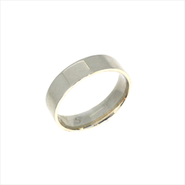 Silver 5mm Easy Fit Court Wedding Ring