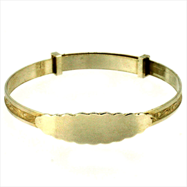 Silver Expanding Baby Bangle