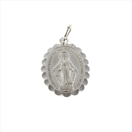 Silver Oval Miraculous Medal