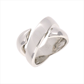 Silver Polished Band Ring. Weight 10g