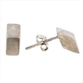 Silver Rhombus Stud Earrings
