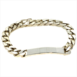 Silver Second-hand Curb Identity Bracelet. Weight 31.2g