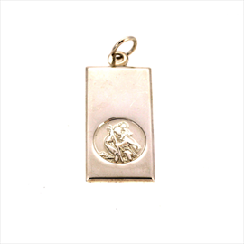 Silver St. Christopher 14mm x 27mm Ingot.