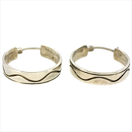 Silver Wedding Ring Earrings