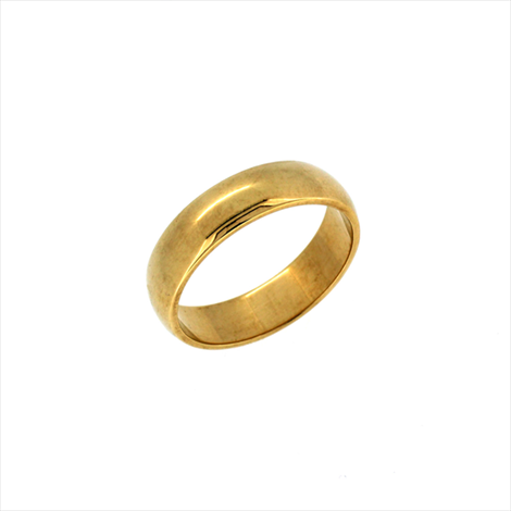 9ct Yellow Gold D Shaped Extra Heavy Wedding Ring. Weight 6.8g