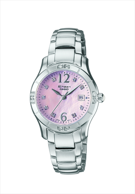 Casio Sheen Mother Of Pearl Dial Ladies Wrist Watch