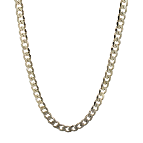 Silver Second-hand Curb Chain. Weight 64g